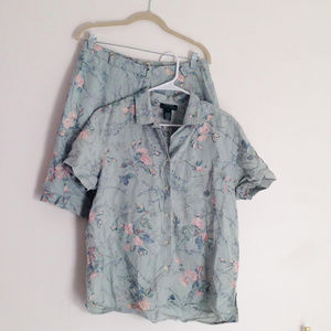 Ralph Lauren | vintage top and shorts Large floral